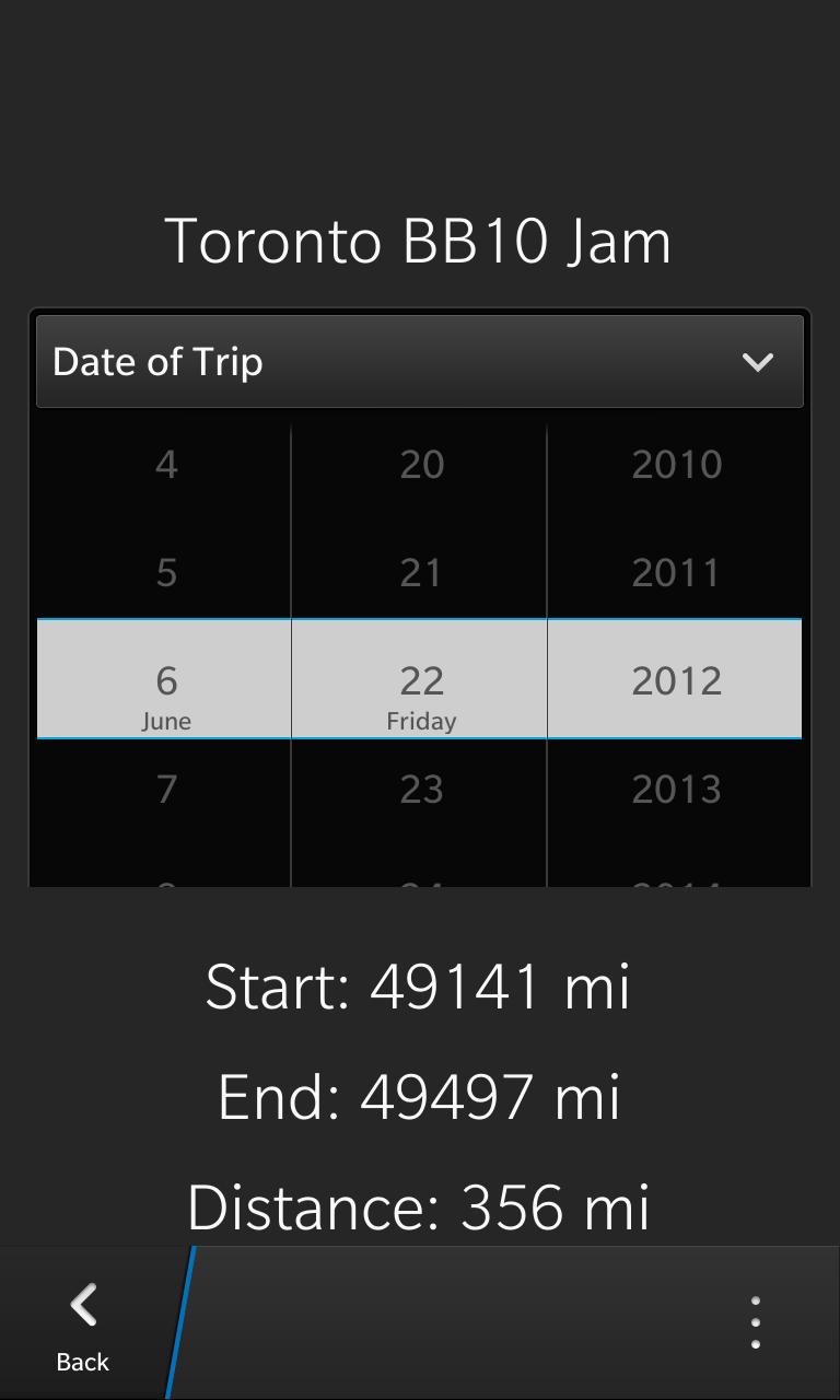date tracker app
